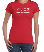 050 I Ate Some Pi women's Tshirt funny math nerd equation geek  All Sizes/Colors - $15.00