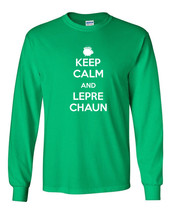 005 Keep Calm Leprechaun irish clover new Long Sleeve Shirt All Sizes and Colors - $18.00