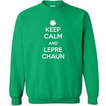 005 Keep Calm Leprechaun Crew Sweatshirt funny Irish clover new All Size... - $20.00