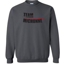 032 Team Michonne Crew Sweatshirt fun zombie walking dead show All Sizes... - $20.00