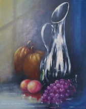 Vintage original, & signed Marie Linnell still life art oil painting - $484.49