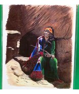 Signed 8X11 Color Pencil Sketch Print By Local Pacific NW Artist Vana Ar... - $4.95