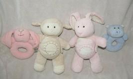 Pottery Barn Kids Stuffed Plush Chamois Bunny Lamb Hippo Rattle Book Baby Toys - $24.74