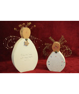 """Set of 2 Wood Angels """"Bless this home..."""" - $24.99"""