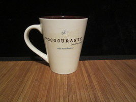 2006 Starbucks Coffee Mug Tea Cup Pococurante Nonchalant White/Brown 13 Oz - $14.99