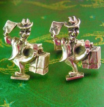 Unusual Traveling Salesman Cufflinks Vintage Figural Designer Kaflinks Eriksen & - $145.00