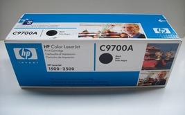 Genuine HP C9700A Color LaserJet Black Toner Cartridge for HP LaserJet 1500-2500 - $24.95