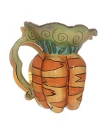 Blue Sky Clayworks Carrots Figural Pitcher Ceramic Hand Painted Heather Goldminc - $29.65