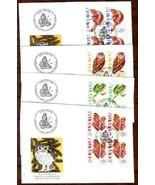SWITZERLAND 1995 FDC BLOCKS OF 4 ANIMALS 4625 - $14.33 CAD