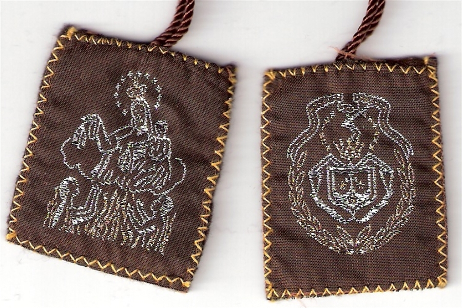Brown Scapular of Mount Carmel - Large size - 060.0005