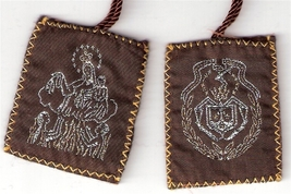 Brown Scapular of Mount Carmel - Large size - 060.0005 image 1