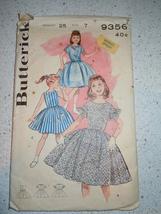 Vintage Butterick  Child's Size 7 Dress  # 9356  1960's - $5.99