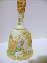"""Christopher Collection Hand Painted Lefton Nativity Bell """"Come All Ye Faithful"""" - $10.00"""