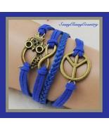 Blue Multi Layered Wrap Bracelet Infinity Symbo... - $5.50