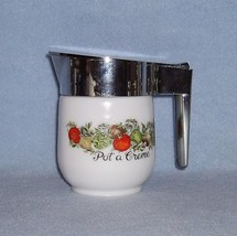 Corning Corelle Spice of Life White Glass Covered Creamer Pot a Creme - $6.99
