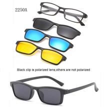 3 Lenes Magnet Sunglasses Clip Mirrored Clip on Sunglasses Clip on Glass... - $18.94