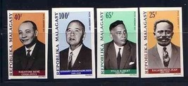 MALAGASY 1972 IMPERF SET FAMOUS PEOPLE  4184YY - $11.88