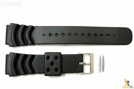 771def43573d 22mm For Timex Q7B722 Buceo Pesado Plástico Negro Correa para Reloj de  Pulsera -  14.61