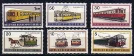 GERMANY 1971  9N305-310 STREETCARS TRAINS HORSE SUBWAY  5853RD-6 - $3.96
