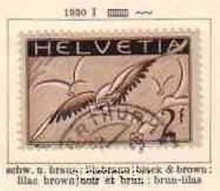 SWITZERLAND 1930 AIRMAIL #C15 USED BIRD 6759 - $28.71
