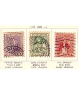 SWITZERLAND 1917 B7-B9  USED       6746 - $34.65