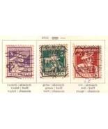 SWITZERLAND 1916 B4-B6  USED       6745 - $54.45