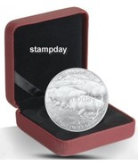CANADA 2013 $100 *SOLD OUT FREE SHIPPING CA* PROOF SILVER COIN BUFFALO 1... - $145.53