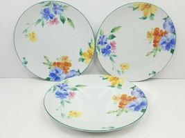3 Studio Nova Spring Rhapsody Dinner Plates Mikasa Floral Round Plate Dish Set  - $39.27