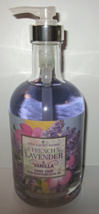 Bath & Body Works Glass 12 oz Olive Oil Hand Soap French Lavender & Vanilla - $29.99