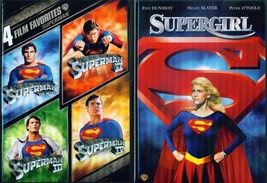 -SUPERMAN 1-2-3-4+ Supergirl+ Returns- Reeve- Slater- Routh- 6 Film- NEW... - $39.99