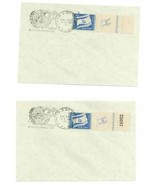 ISRAEL 1949  # 15 ( 2 )  FLAGS FDC LEFT &  RIGHT FULL TABS RARE 14979-D - €130,29 EUR