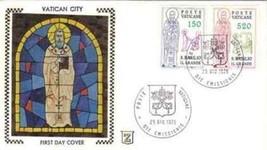 VATICAN 1979 # 652-653  SILK FDC  ST. BASIL    5093RD-5 - $7.92