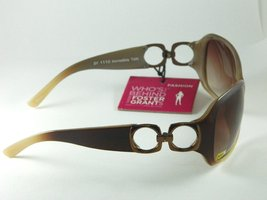 "Foster Grant ""Incredible"" Brown Sunglasses Side Bronze Chain Design - $16.99"