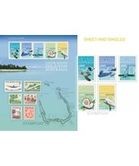 COCOS 2013 MARINE LIFE MAP AIRPLANE BIRD STAMP ON STAMP MINI SHEET/SET 1... - $28.74 CAD