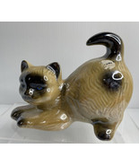 Vintage Handcrafted  ~Brazil~ Cat Figurine~ Glazed Porcelain~~RARE DESIGN!! - $13.81