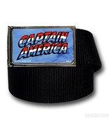 Captain America Marvel Comics Jewel M Black Web Belt [Toy] - $19.79