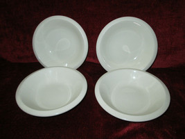 "Franciscan Sea Sculpture primary white set of 3 fruit bowls 6 3/8"" - $42.56"
