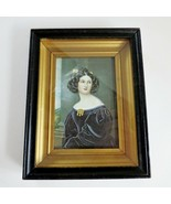 Antique Gold Frame behind glass lithograph Nanette Kaula - Joseph Karl S... - $296.99