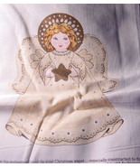 Fabric Printed Panel to make Stuffed Christmas Angel  - $4.99