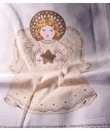 Fabric Printed Panel to make Stuffed Christmas Angel  - $5.99