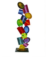 Cool Contemporary Modern Abstract Art Geometric Jumble Floor Sculpture b... - $499.99