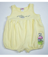 CARTERS BABY GIRLS 18M 24M YELLOW ROMPER KITTY CAT GOING PLACES 1 PC OUT... - $8.90