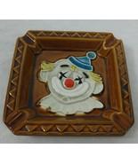 Glazed Ceramic Clown Ashtray Made in Japan Clowns Figurine Circus Smoking - $34.70