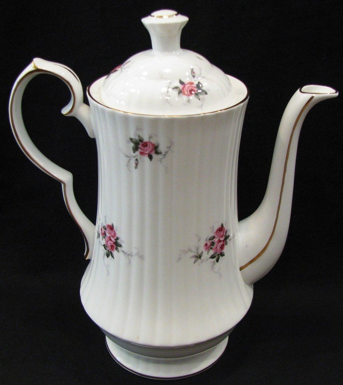 Princess house coffee pot windsor rose hammersley china for Princess housse