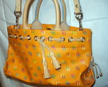 Orange Leather Tassel Tote Satchel Dooney and Bourke D & B Handbag Excellent Con