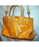 Orange Leather Tassel Tote Satchel Dooney and Bourke D & B Handbag Excel... - $235.00