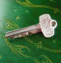 BEST Key Tie Clip Vintage New Homeowner Novelty Realtor Designer Hickok Housewar - $65.00