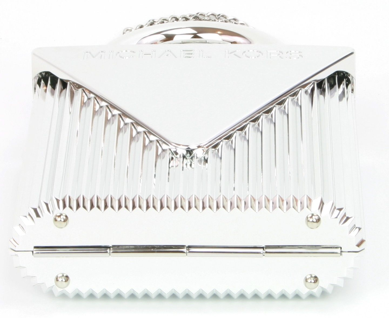 Michael Kors Silver Mercer Locked Clutch Shoulder Bag Small Handbag RRP £350