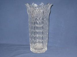 "24% Lead Crystal Vase Fifth Ave Ltd Vtg Petal Flared Rim 11"" tall Clear USA - $22.27"