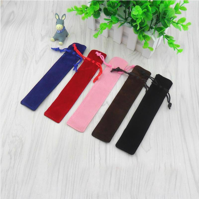 2pcs/lot Plush Solid Color Pencil Case For One Pieces Fountain Gel Ballpoint Pen